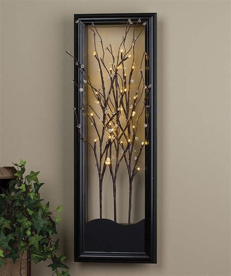 Light Up Willow Branch Wall Art For The Home Pinterest