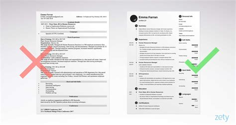 How To Right A Cv by Right And Wrong Basic Resume Exles Comparison