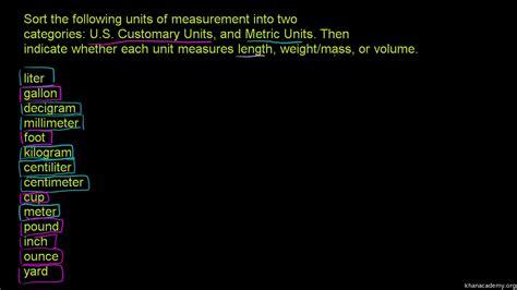 grade metric system  printables worksheet