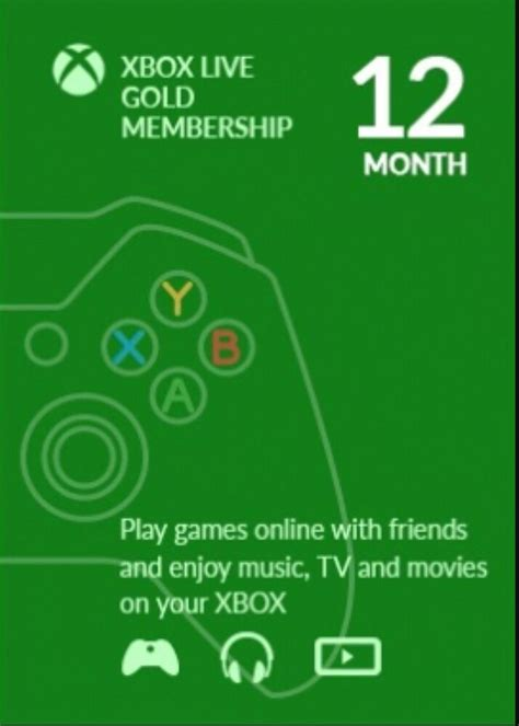 1 xbox live microsoft xbox live 12 month gold membership for xbox 360 xbox one ebay