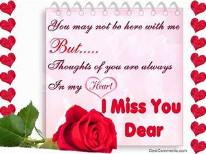 I Miss You Dear - DesiComments.com