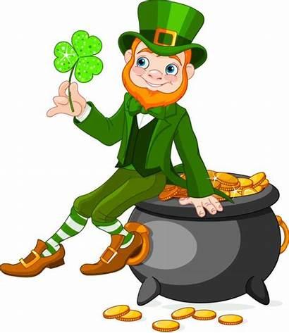 Leprechaun Pot Cartoon Sitting Patrick Lutin Irish