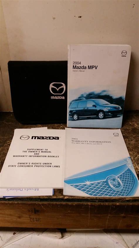 manual repair free 1995 mazda mpv user handbook 2004 mazda mpv owners manual by mazda nonfiction