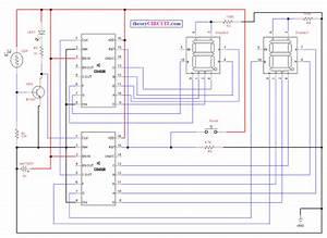 7 Segment Counter Circuit Diagram
