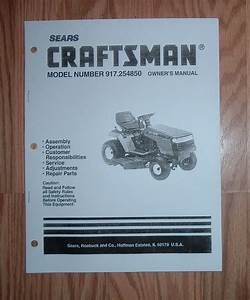 Craftsman Lt4000 Lawn Tractor Owners Manual With