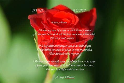 bos bloemen crematie persoonlijke herinneringen