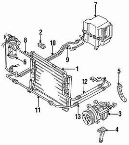 1992 Mazda B2600 A  C Refrigerant Discharge Hose  Air