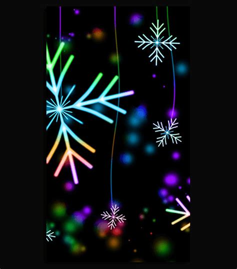 Neon Snowflakes Hd Wallpaper For Your Mobile Phone