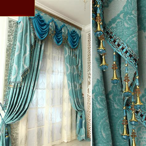 Blue Valances For Living Room by Luxury Living Room Curtains And Drapes In Baby Blue Color
