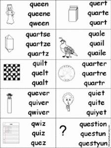 Letter Q Alphabet Activities at EnchantedLearning.com