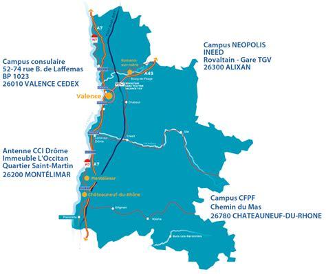 chambre de commerce drome coordonnées et plan d 39 accès formation drôme cci