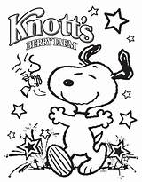 Coloring July Pages 4th Knott Berry Farm Knotts Independence sketch template