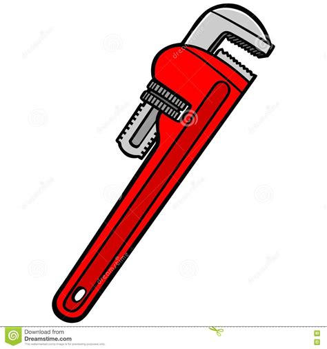 Pipe Clipart Plumbing Wrench  Pencil And In Color Pipe