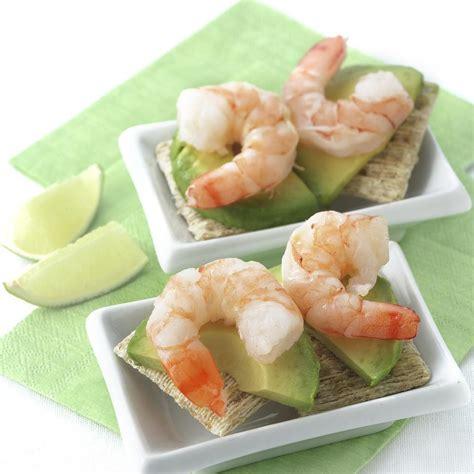 shrimp canape recipe shrimp avocado canapes recipe eatingwell