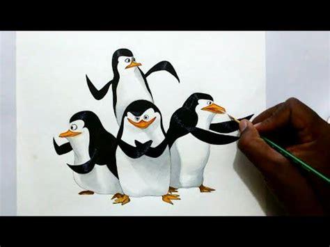 draw penguins  madagascar youtube
