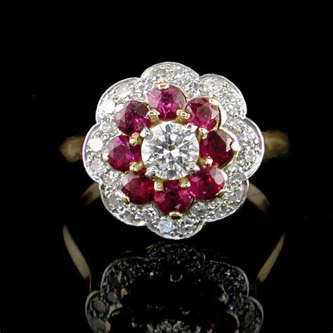 vintage ruby engagement rings uk engagement ring usa