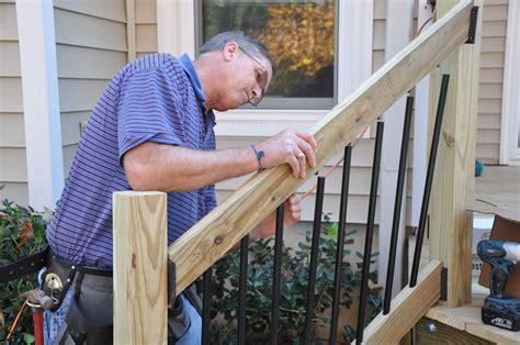 Porch Stair Handrail by How To Install Deck Stair Railings Decks