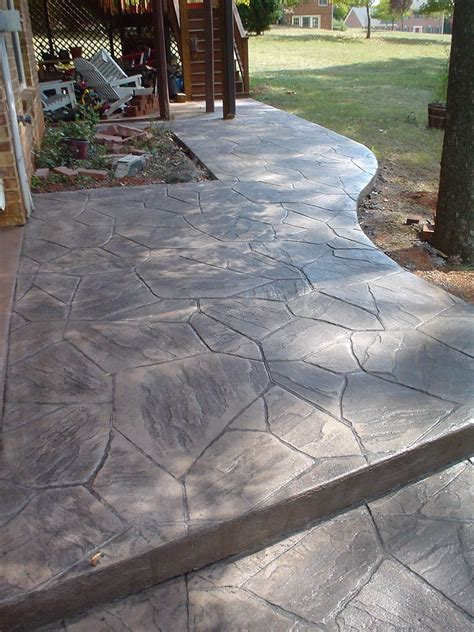 stamped concrete flagstone   tims  stamp