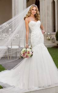 wedding dresses fit and flare wedding dresses stella york With stella york lace wedding dress