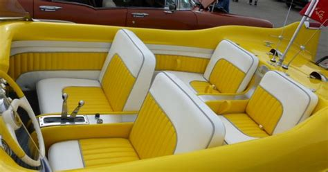 How About That For A Cool Vintage Boat Interior. It