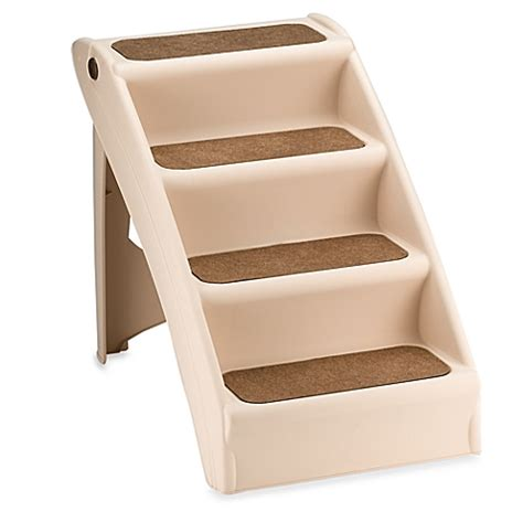 pet stairs for beds pupstep plus stairs www bedbathandbeyond