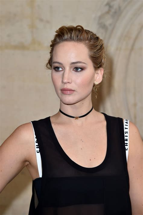 Jennifer Lawrence Christian Dior Show At Paris Fashion