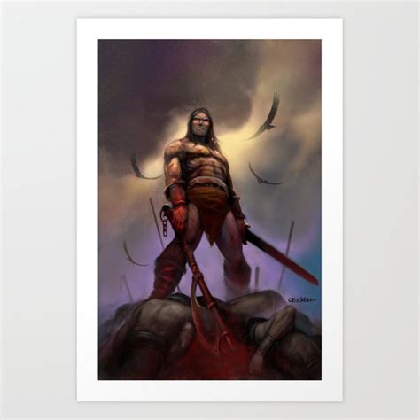 conan  barbarian art print  ericlofgren society