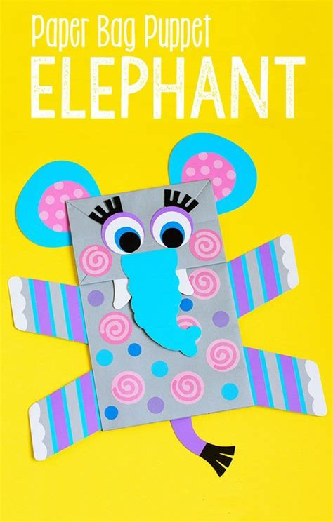 elephant paper bag puppet 17 best images about puppets on crafts 4397