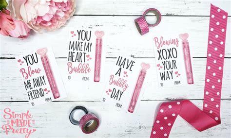 printable bubble valentine cards simple  pretty