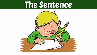 Sentence Definition Writing English Clipart Grammar Letter