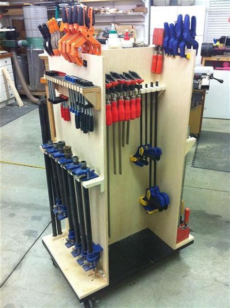Space saving bar clamp rack. Rolling Clamp Cart - by Cory @ LumberJocks.com ...