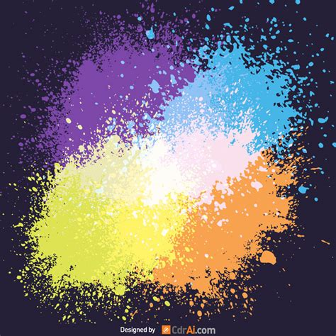 splatter color background  cdraicom