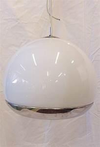 Suspension Globe Verre : suspension vintage 1970 globe en verre et chrome puces ~ Teatrodelosmanantiales.com Idées de Décoration