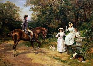 A Meeting By A Stile Painting by Heywood Hardy