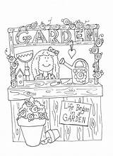Coloring Twig Garden Pages Booth Books Freedeariedollsdigistamps sketch template