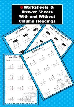 vertical addition worksheets word problems  games