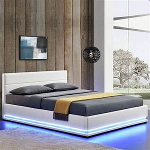 Lit Coffre 180x200 : lit ava avec coffre de rangement et led int gr ~ Melissatoandfro.com Idées de Décoration