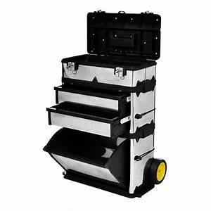 Servante A Roulette : vidaxl c caisse valise coffre bo te outils roulette ~ Melissatoandfro.com Idées de Décoration