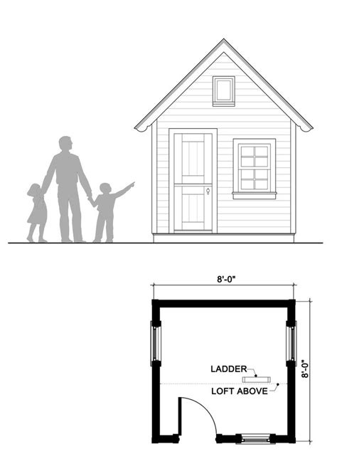 8x8 Shed Plans With Loft by 18 Best Images About Playhouse Plans By Playhouse Planner