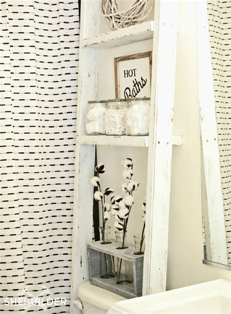 ana white  toilet storage ladder diy projects
