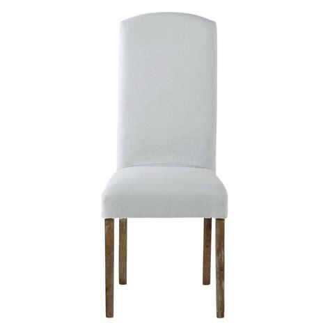 housse de chaise maison du monde housse de chaise en lavé bleu glacier maisons
