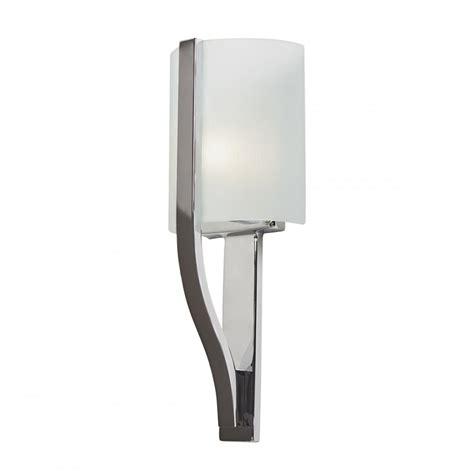 contemporary polished chrome bathroom wall light with