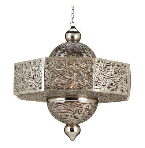 ornate pierced metal filigree moroccan style 1 light pendant
