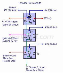 12 Volt Relay Wiring Code : one channel to multiple outputs relay wiring diagram ~ A.2002-acura-tl-radio.info Haus und Dekorationen