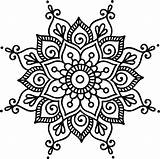 Mandala Simple Cricut Dot Mandalas Flower Dots Coloring Transparent Henna Painting Vippng Drawings sketch template