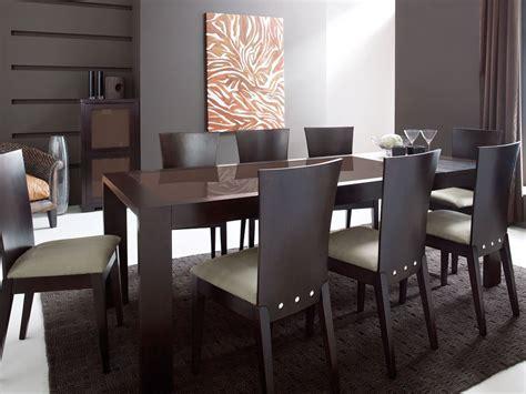 table de cuisine salle 224 manger 224 rallonges en ch 234 ne weng 233 et verre tremp 233 marron brandon