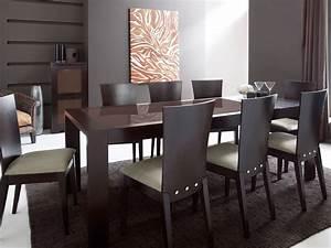 table a manger wenge et verre With meuble salle À manger avec chaise pour salle a manger pas cher
