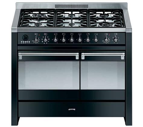 buy smeg opera 100 dual fuel range cooker black