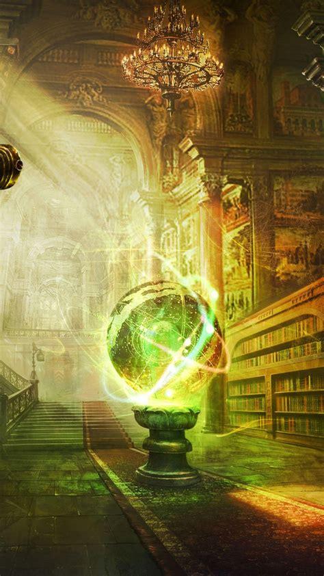 fantasy room magic globe library android wallpaper