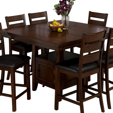 kitchen table with storage base jofran 337 54 butterfly leaf counter height table
